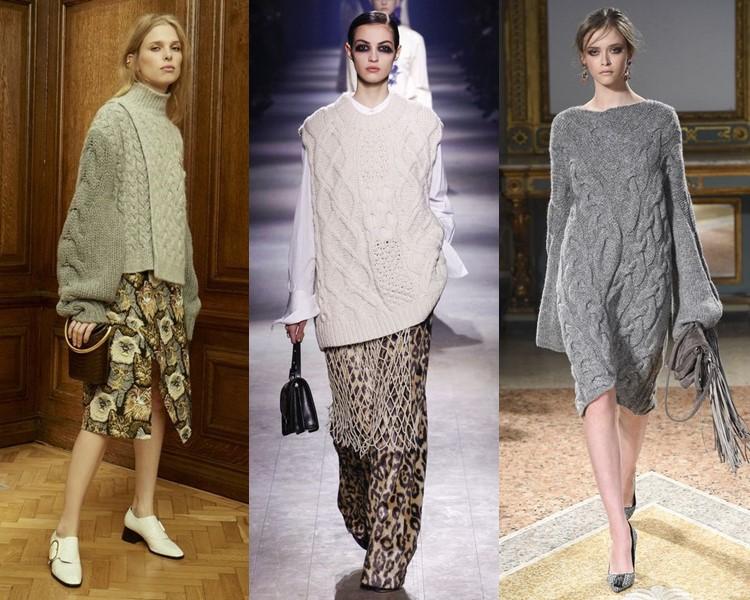 Модные вязаные изделия осенью/зимой 2018-19