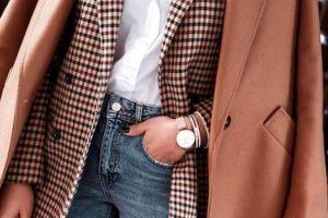 Как носить трендовый пиджак в клетку?