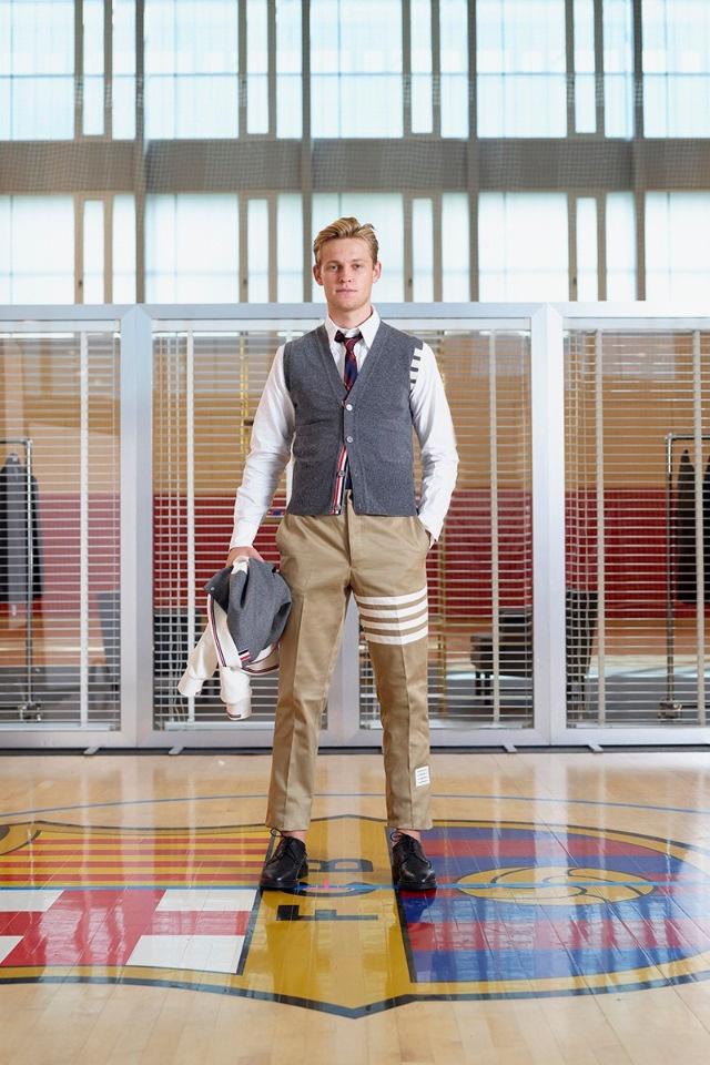 Модный дом Thom Browne презентует эксклюзивные костюмы для игроков клуба Barcelona
