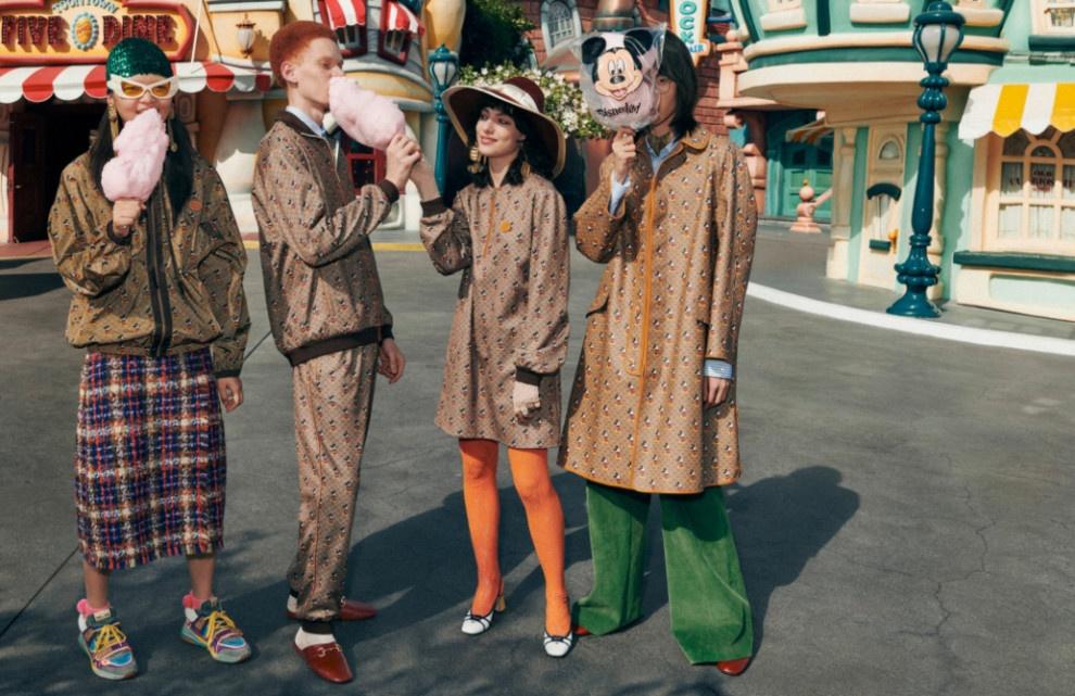Gucci в коллаборации с Дисней презентуют линейку
