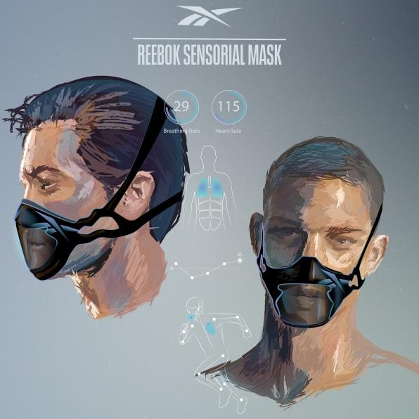 Reebok разрабатывают уникальные маски для занятий спортом