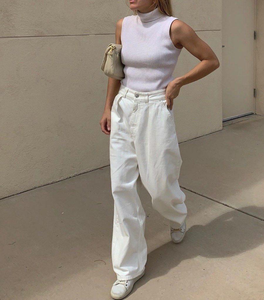 Как носить белые джинсы: 5 трендовых способов на каждый день