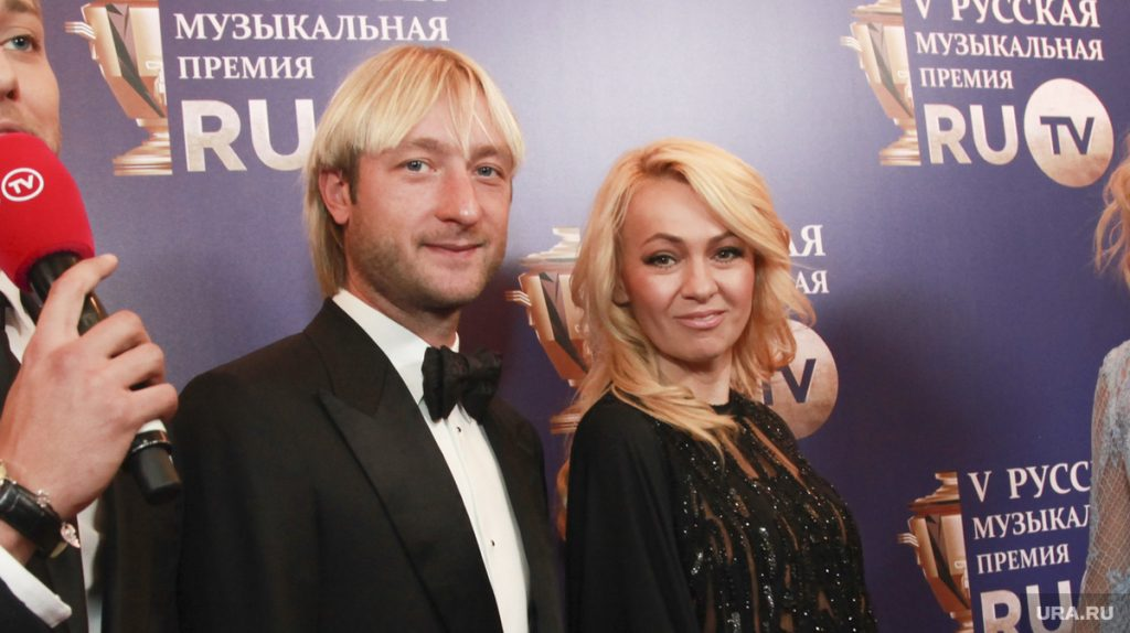 Яна Рудковская и Евгений Плющенко отметили стальную свадьбу