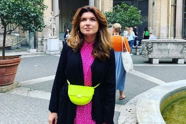 Супруга Дмитрия Монатика произвела фурор соблазнительным нарядом на Ukrainian Fashion Week