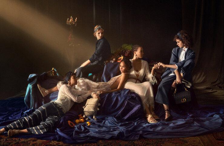 Живые картины: Dior выпустили кампейн в стиле эпохи Барокко