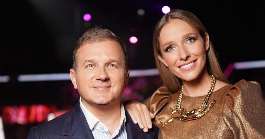 Юрий Горбунов вместе с любимой на премьерном показе фильма «Скажене весілля-3»