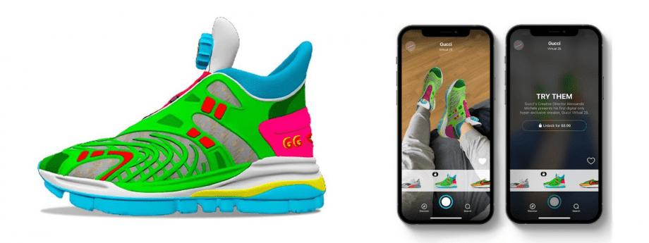 GUCCI выпустили цифровые кроссовки: что это и зачем нужно