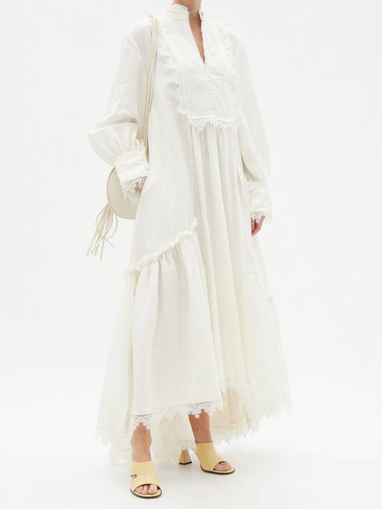 Белое платье в романтическом стиле – новый маст-хэв летнего сезона
