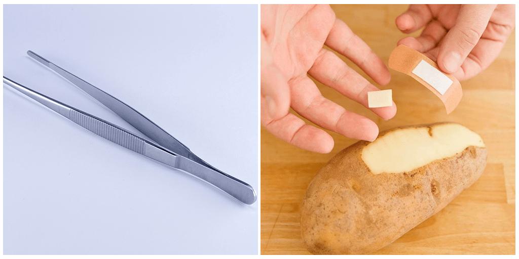 Как достать занозу: невероятно простой лайфхак с картошкой, который работает