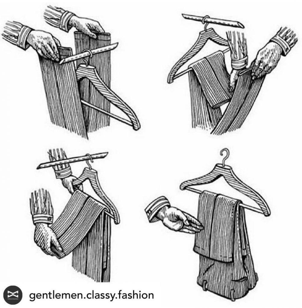 Гениально простой совет, как правильно вешать брюки на вешалку