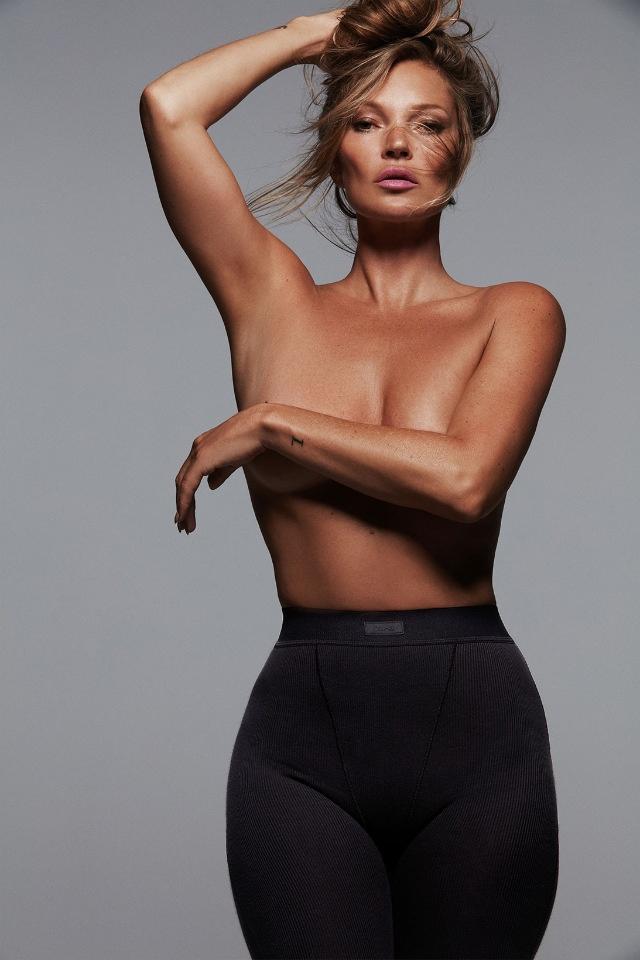 Кейт Мосс снялась в откровенной фотосессии для бренда Ким Кардашьян