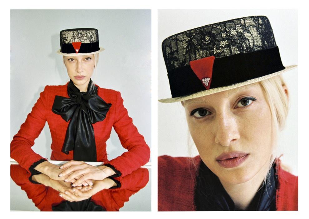 Модный дебют: диджей Олимпия Вайтмусташ выпустила коллекцию головных уборов