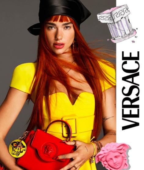 Видео дня: Дуа Липа с рыжими волосами танцует в новом ролике для Versace